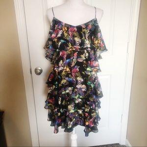 Gianni Bini floral cold shoulder dress